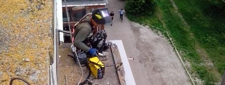 Ремонт балконных козырьков Черкассы